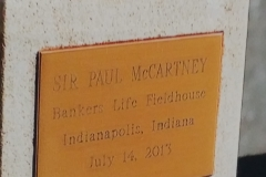 Anodized trophy presented to Paul McCartney
